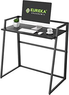EUREKA ERGONOMIC Modern Folding Computer Desk Teen Student Dorm Study Desks 33-inch Fold up Desk, Easy to be Folded or Unf...