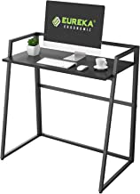 EUREKA ERGONOMIC Modern Folding Computer Desk Teen Student Dorm Study Desks 33-inch Fold up Desk, Easy to be Folded or Unf...