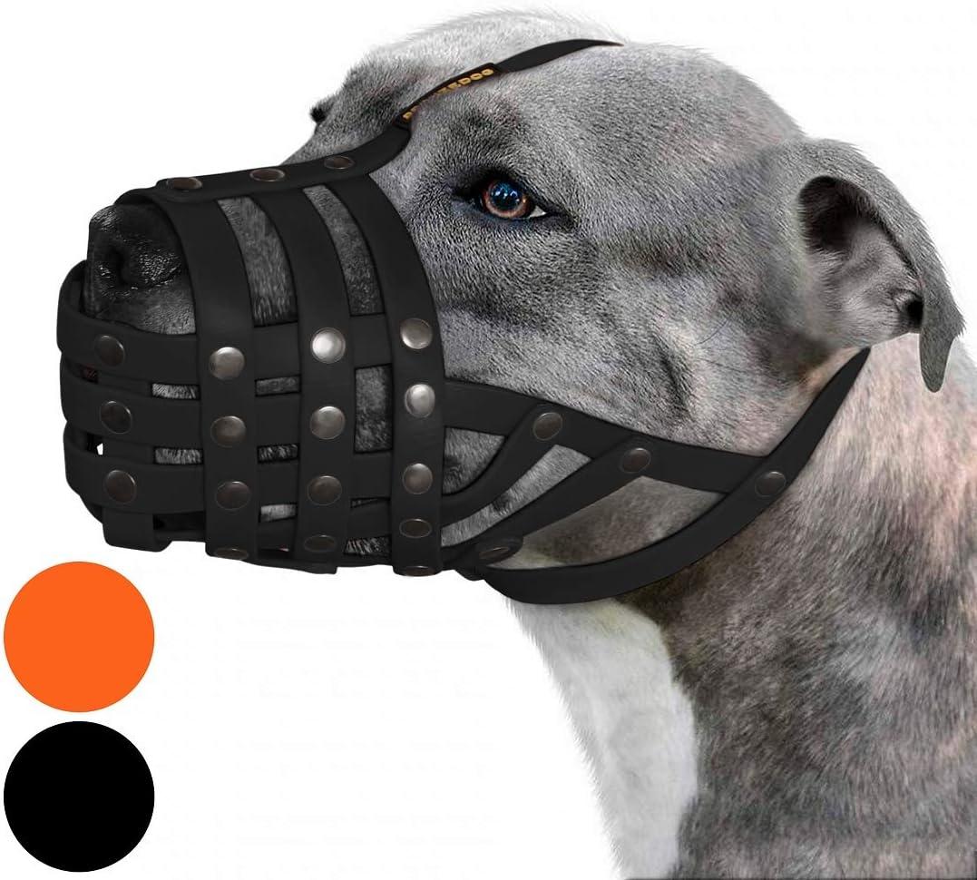 2021 BRONZEDOG Pitbull Dog Muzzle Adjustabl Waterproof Basket Mesa Mall Amstaff