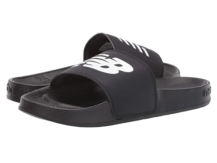 New Balance  200 (Black/White Synthetic) Womens Sandals