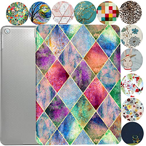iPad 7.9 Case iPad Mini 3rd / 2nd / 1st Generation Slim Smart Protective Cover with Soft TPU Clear Back & Viewing/Typing Stand for iPad 7.9' iPad Mini 3/2 / 1 Gen Auto Sleep/Wake - Diamond Grid