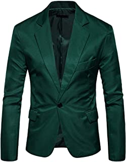Men Suit Jacket Slim Fit Wedding Party Casual Evening Wear Pure Color Classic Spring and Autumn Fashion Long Sleeve Boutiq...