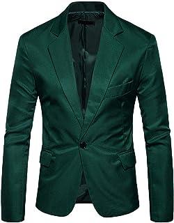 YUPENG Men Suit Slim Fit Jacket Wedding and Party Business Casual One Button Suit Blazer Regular Fit Blazer Men Tops