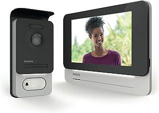 """Philips Welcome 531001 Visiophone Tactile qualité d'image/Haut Niveau de sécurité, Noir, 7"""""""