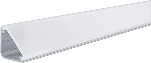 Paulmann 70262 Delta Profile with Diffuser for LED Strips 1 m skirting Board anodised Plastic Illuminated Edging, Aluminiu...