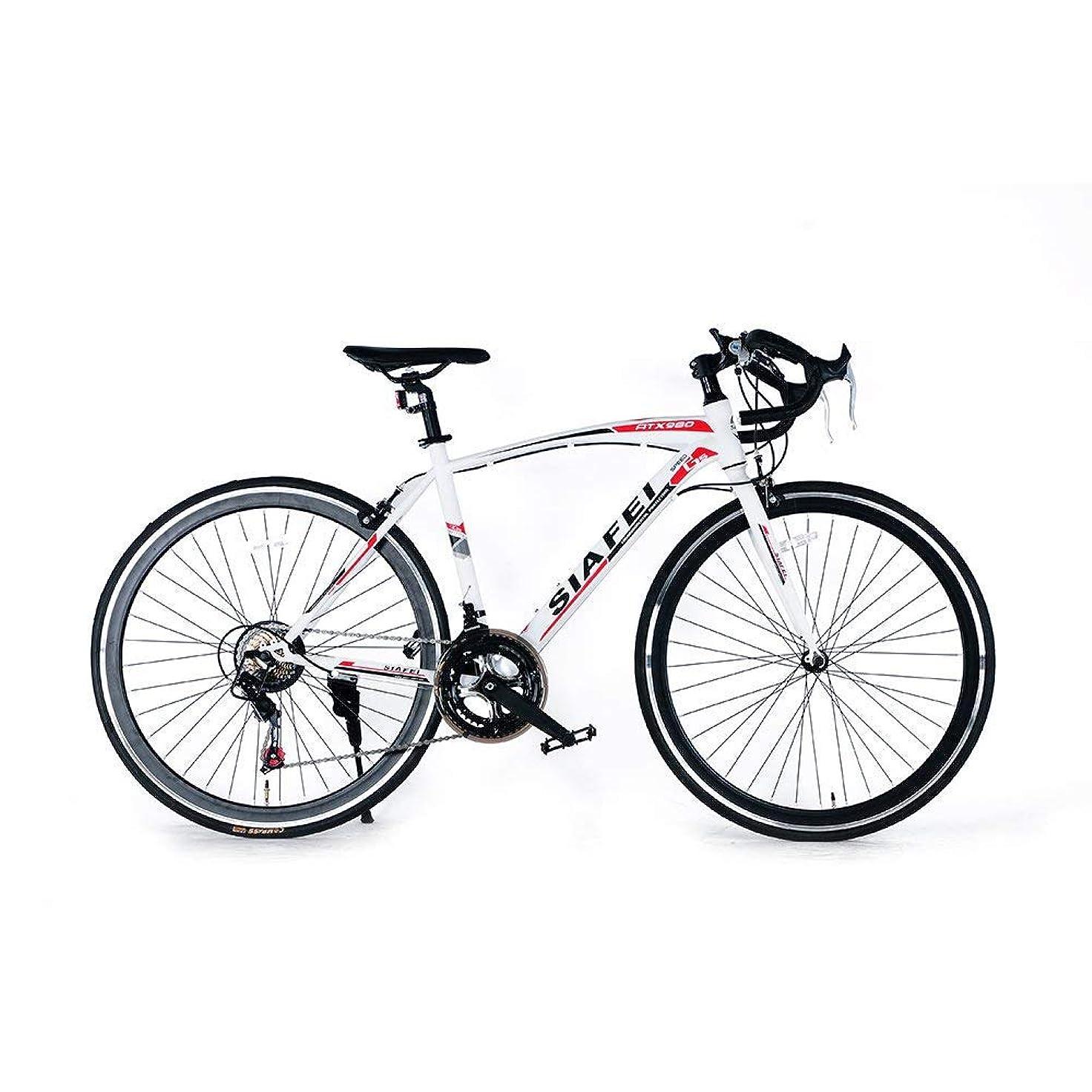 拷問創始者アルプスLUCK store ロードバイク スポーツバイク 700C シマノ14段変速 2WAYブレーキシステム搭載 ドロップハンドル 超軽量高炭素鋼フレーム ライトのプレゼント付き 自転車 PL保険加入 01