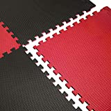 CAP Barbell Red/Black Reversible Puzzle Exercise Mat, 16 Pieces (MTS-1204RDBL-16)