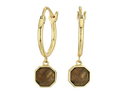 gorjana Power Gemstone Charm Huggies Earrings (Labradorite) Earring