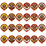 Flavored Coffee in Single Serve Coffee Pods - Flavor Coffee Variety Pack for Keurig K Cups Machine Recyclable Pods from Crazy Cups, 24 Count