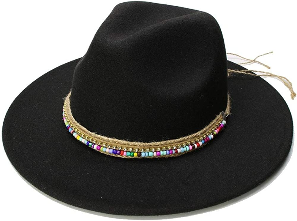 L.W.SUSL Wool Fedora Hat Hawkins Felt Cap Wide Brim Ladies Trilby Chapeu Feminino Hat