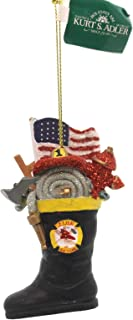 Kurt Adler Firefighter's Boot Christmas Ornament