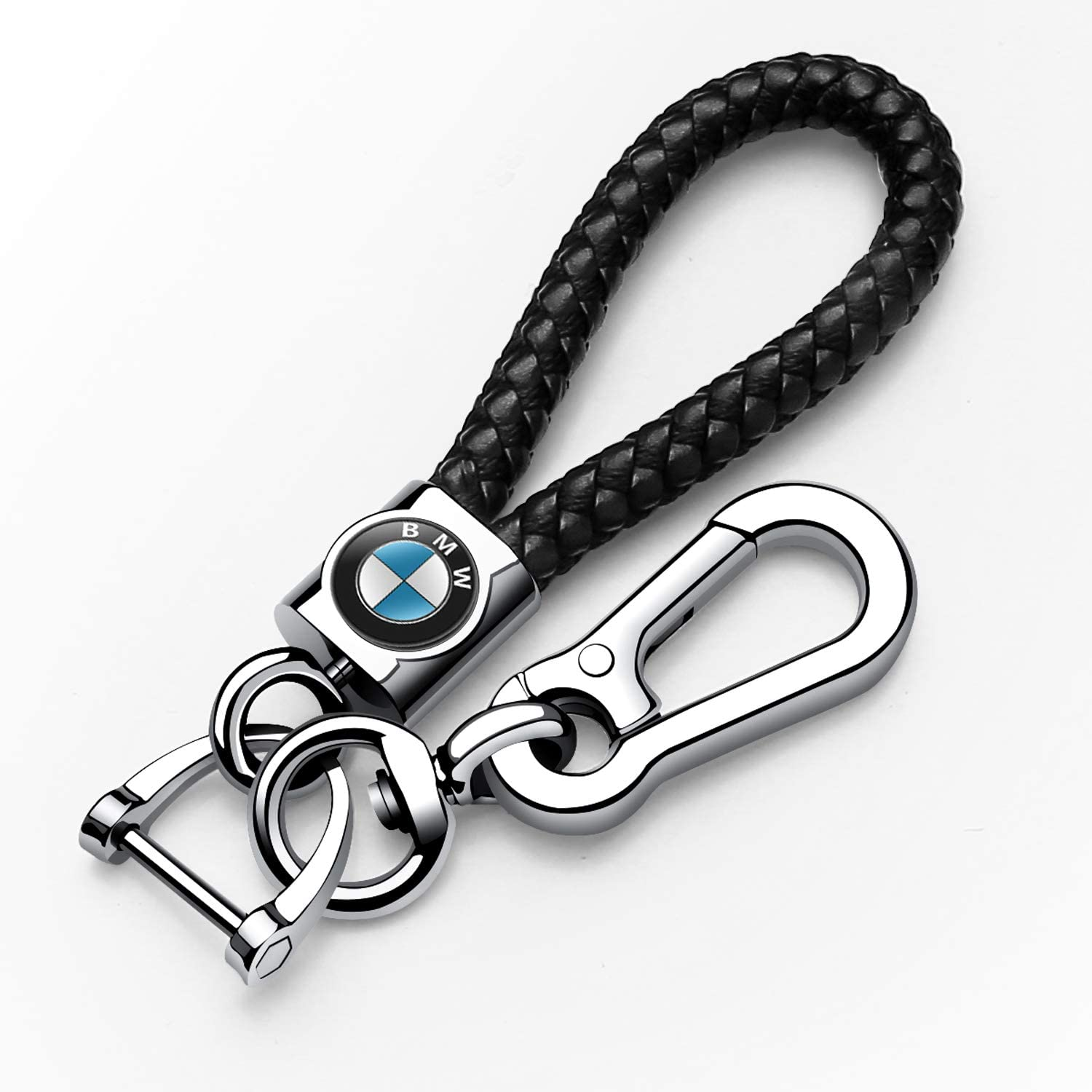 for men and women -Black Autophone Leather weave Car Logo Key chain,suit for Lexus keychains,UX200 LS500 LS500H LC500 LC500h ES300h ES350 Accessories Keyring with Logo