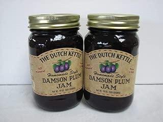 The Dutch Kettle Damson Plum Jam 2- 19 0z jars
