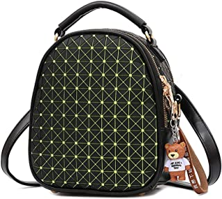 GYYlucky Student Bag Summer New Geometric Rhombic Backpack Korean Version of Bear Cub Student Bag Laser Bag