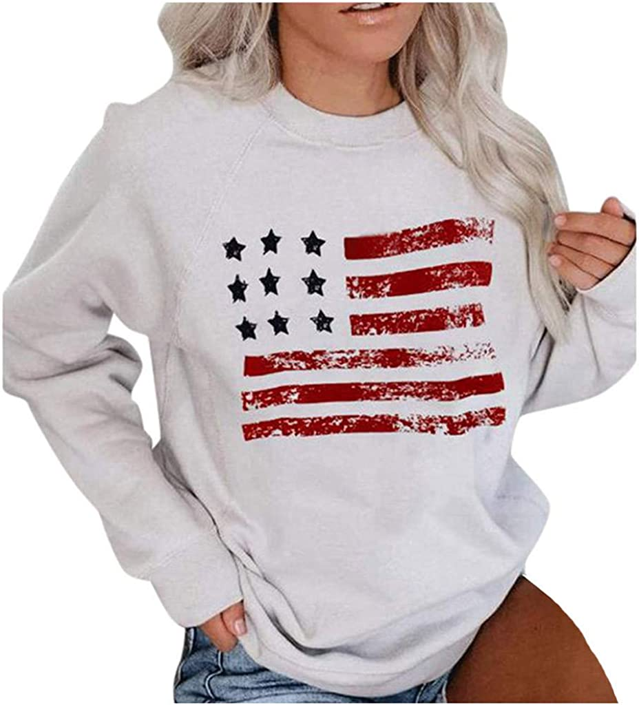 Direct store Arlington Mall F_topbu Sweatshirts for Women Long Top Round-Neck Shirt Sleeve