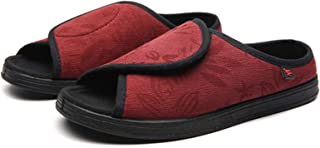 DXDUI Chaussons Diabétiques Chaussures Élargies Réglables Pieds Gonflés Larges Chaussures Soin Déformation Graisse Doux Co...