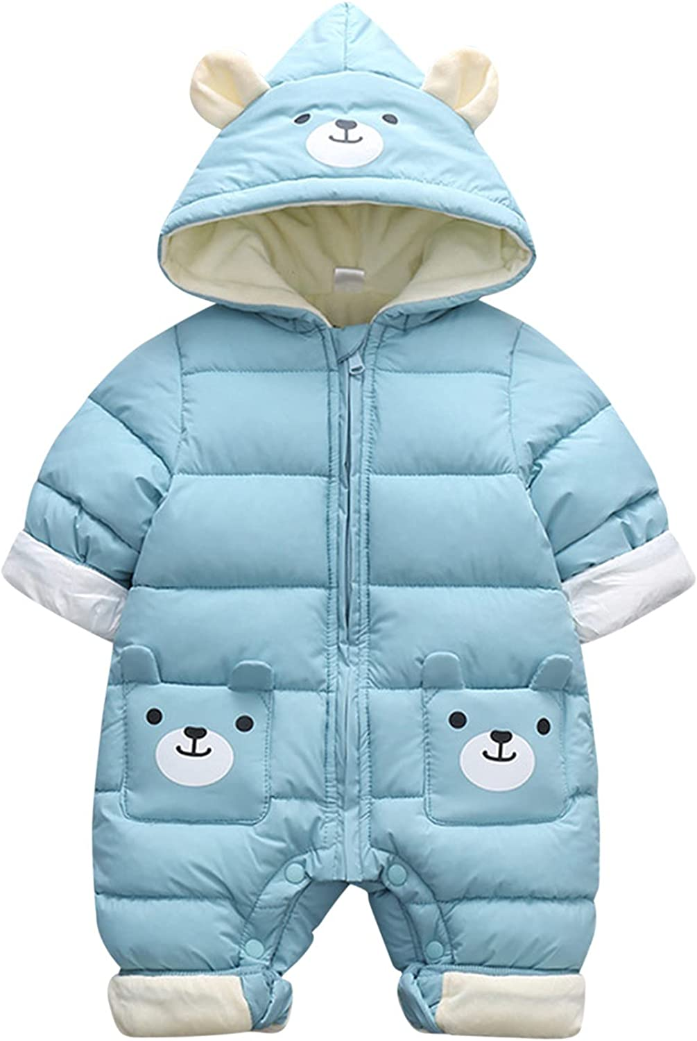 KONF Newborn Same day shipping Baby Coat Hoodie Hooded New Free Shipping Winter Boys Snowsuit Girls