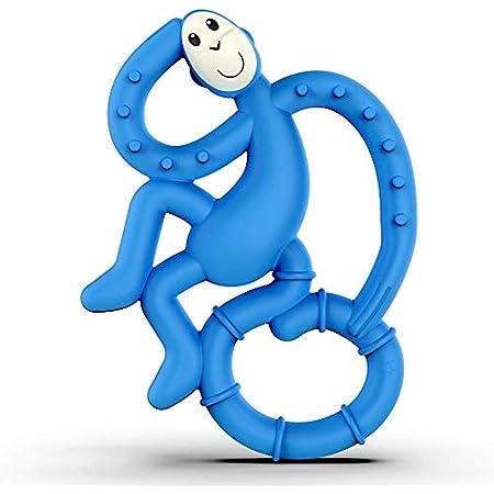 Matchstick Monkey MM-MMT-002 Mini Scimmietta Gioco per la Dentizione Antibatterico - Blu