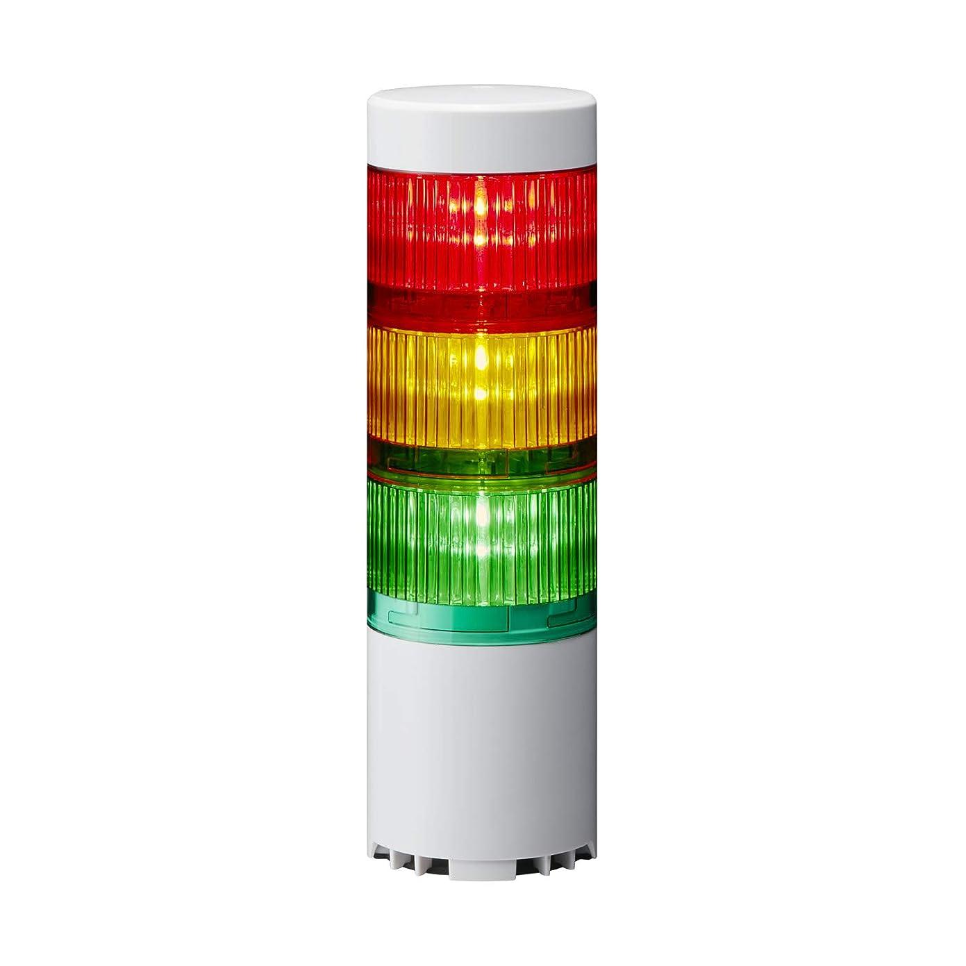 立法充電乱用USB制御積層信号灯 LR6-3USBW-RYG