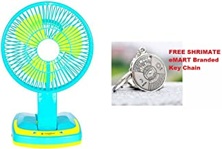 ZESI Powerful Rechargeable Ac/Dc 2 Speed Table Fan with 21 SMD LED Lights - With 50 Years Calendar Key Ring Free