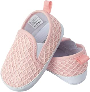 Little Me Kids' Slip on Faux Knit Twin Gore Baby Girl Shoes
