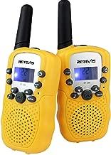 Retevis RT-388 Kids Walkie Talkies FRS 22CH LCD Display Walkie Talkies for Kids(Yellow,1 Pair)