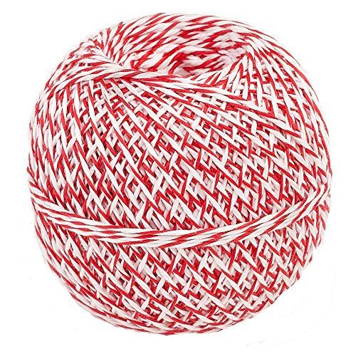 Küchengarn 200 m Küchenfaden rot/weiß Kunstfaser