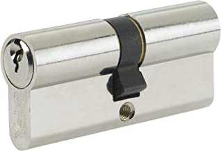 Yale Standard Euro Cylinder Nickel Plated 35/35 (70mm overall) Lock with 3 keys supplied - A 6 pin cylinder with a 10 year guarantee. by Truly PVC Supplies