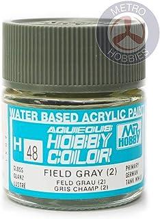 GSI Creos Aqueous Mr Hobby Color Acrylic H48 Field Gray (2) Model Kit Paint 10ml