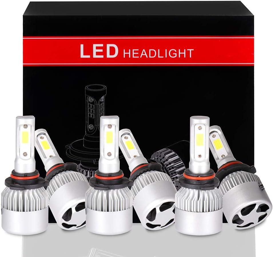 ECCPP 9005+9145+9006 LED Headlight Bulb Bright 格安店 日本限定 Super Cree White