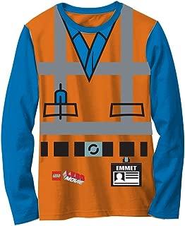 LEGO Movie Emmet Orange Boys Long Sleeve Costume T-Shirt