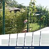 HORI Doppelstabmattenzaun I Zaun Komplettset I verschiedene Längen und Höhen – wahlweise mit Abdeckschiene oder Klemmhalter I Grün RAL 6005 I Höhe 183 cm I Länge 7.5 m