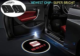 Juego de 2 luces de proyección LED universales inalámbricas para coche con emblema láser para todos los coches