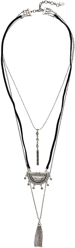 Pave Tribal Layer Necklace