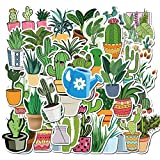 PMSMT 45 unids/Set Bonitas Plantas de Cactus cultivadas en Maceta Fresca Pegatinas de PVC Impermeables para Equipaje Scrapbooking DIY Pegatinas de papelería