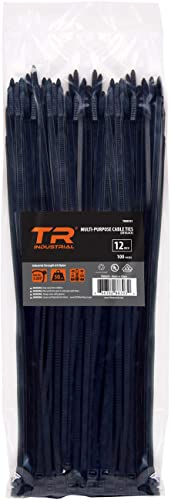 "TR Industrial TR88303 Multi-Purpose UV Cable Ties, 100-Piece, 300mm (12"")"
