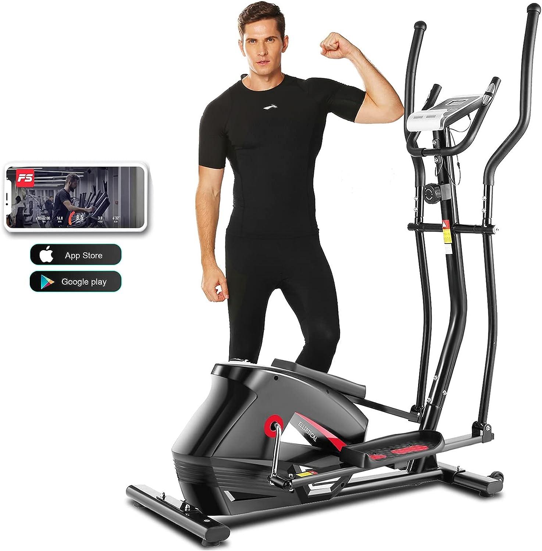 ANCHEER Cheap sale APP Elliptical Machine 2021 Newest New life C