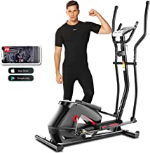 ANCHEER APP Elliptical Machine, 2021 Newest Elliptical Machine Cross Trainers with Adjustable 10 Level Magnetic Resistance...