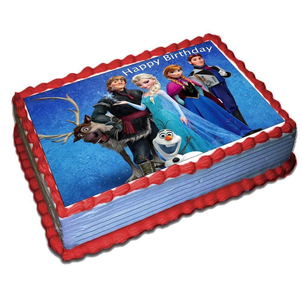 Enjoyable Frozen Cake Topper Sheet Edible Frosting Photo Frozen Cake Funny Birthday Cards Online Fluifree Goldxyz
