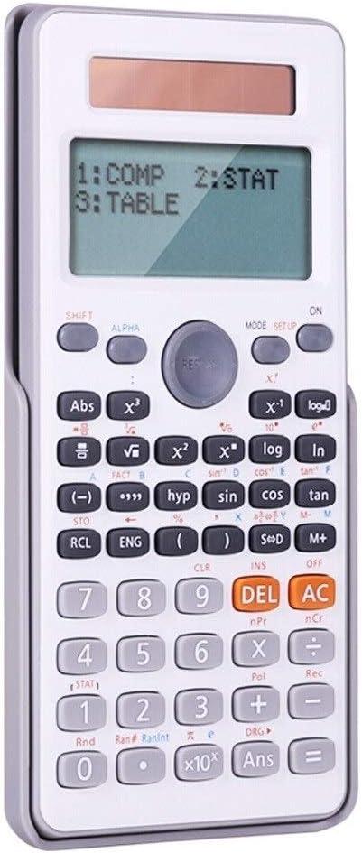 LIKYE Calculator Dual Line Large Screen Display Scientific Calculator Dual Power Function Calculator for Small Junior High School (Color : White)