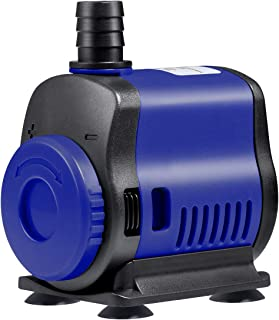 UEETEK Submersible Pump(1000L/H, 14W) Adjustable Ultra Quiet Water Pump for Aquarium, Fish Tank, Pond, Statuary, Hydroponics
