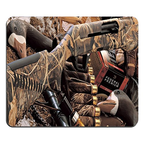 DUCK HUNTING CAMOUFLAGE SHOTGUN BULLETS DECOY IMAGE COMPUTER MOUSE PAD