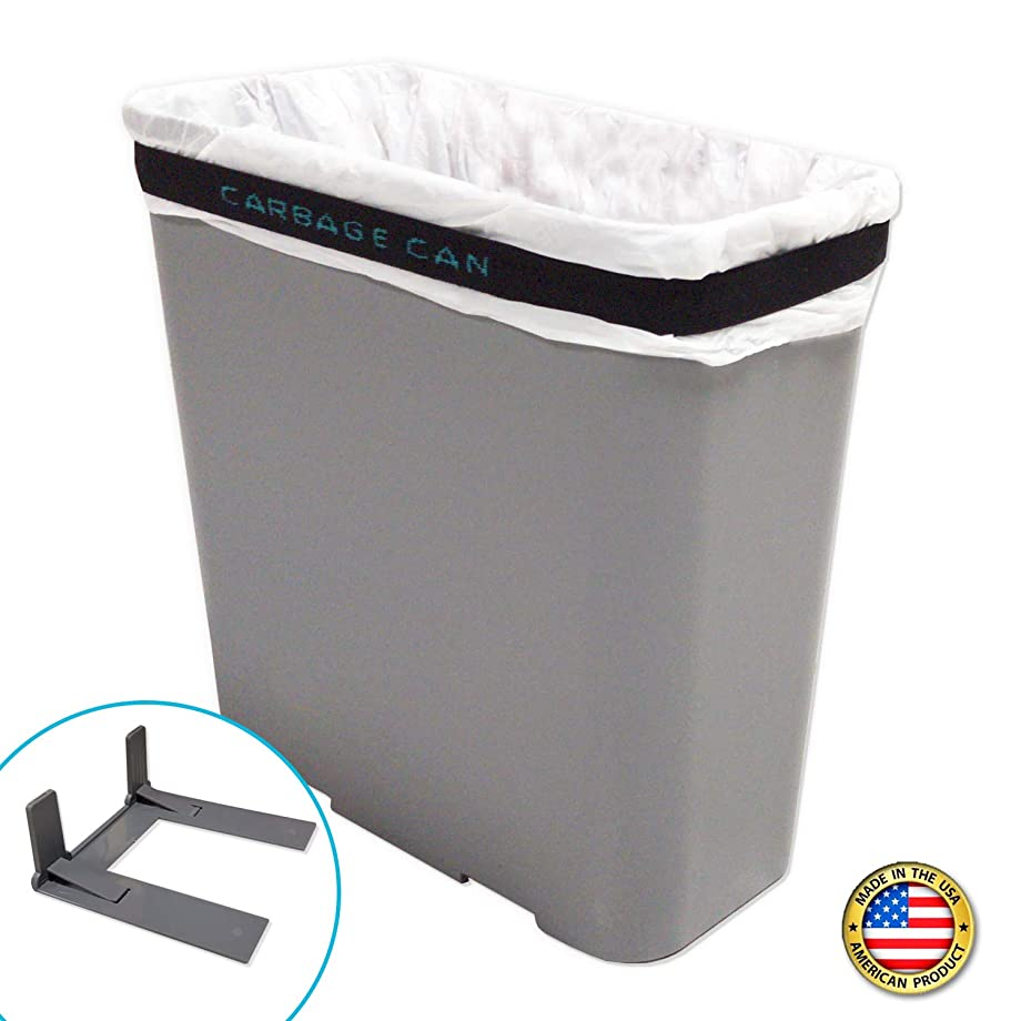 Carbage Can Premium Car Trash Can w/Floor Mat Clip and Bag Securement Band