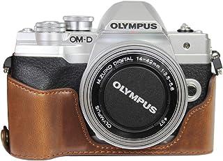 対応 Olympus オリンパス PEN OM-D EM10 Mark IV カメラ バッグ カメラ ケース 、Koowl手作りトップクラスのPUレザーカメラハーフケース、Olympus オリンパス PEN OM-D EM10 Mark IV ...