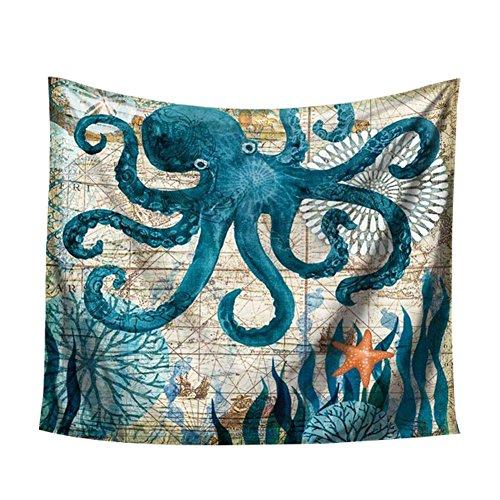 Dosige tafelkleed, vuilafstotend, rechthoekig, van polyester, motief: zeeman, wandtapijt, afmetingen 150 x 102 cm