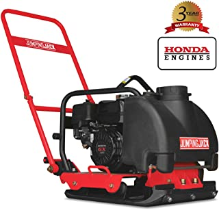 JUMPING JACK 5.5 HP Honda Vibratory Plate Compactor Tamper for Dirt Soil Asphalt Gravel Compaction with 3 Gallon Water Tank