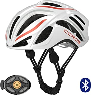 Coros Linx Smart Cycling Helmet w/Bone Conducting Audio | Fully Adjustable Sizing/Connects via Bluetooth for Music, Calls and Navigation | Comfortable, Lightweight, Breathable