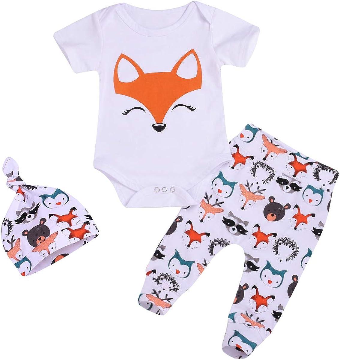 3Pcs Baby Boy half Girl Clothes Over item handling ☆ Infant Animals Top Pan Nowborn Romper