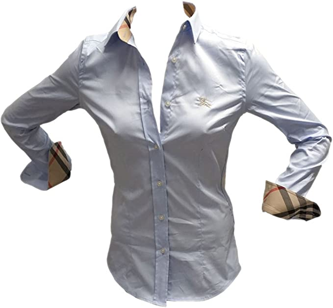 BURBERRY - Camisas - para mujer Iceblue 46: Amazon.es: Ropa