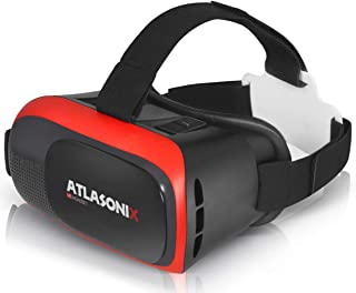 VR Headset for iPhone & Android Phone - Virtual Reality Goggles | Comfortable & Adjustable VR Glasses with Full Eye Protection, Phone VR Viewer | Play Your Best 3D Mobile Games & Videos